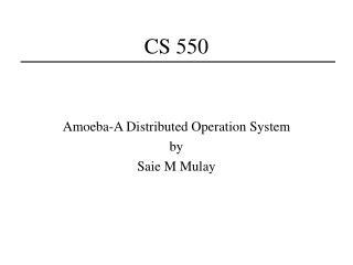 CS 550