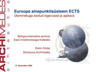 Euroopa ainepunktis�steem ECTS