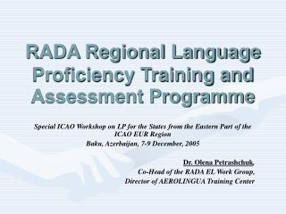 RADA Regional Language Proficiency Training and Assessment Programme