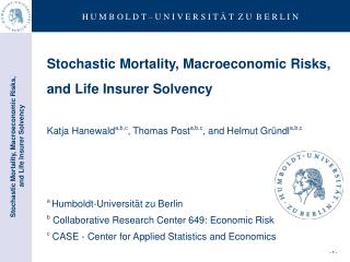 Stochastic Mortality, Macroeconomic Risks,  and Life Insurer Solvency