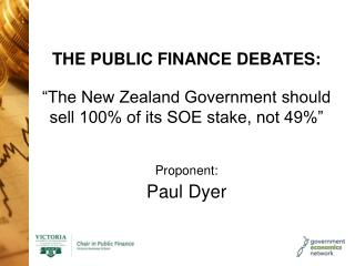 THE PUBLIC FINANCE DEBATES: