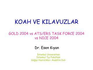 KOAH VE KILAVUZLAR GOLD 2004 vs ATS/ERS TASK FORCE 2004 vs NICE 2004