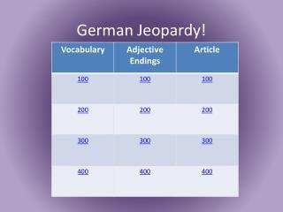German Jeopardy!