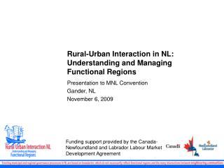 Rural-Urban Interaction in NL: Understanding and Managing Functional Regions