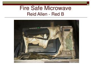 Fire Safe Microwave Reid Allen - Red B