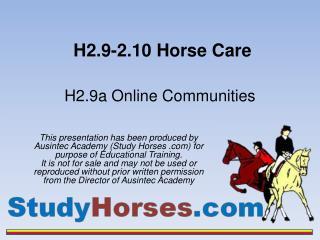 H2.9-2.10 Horse Care
