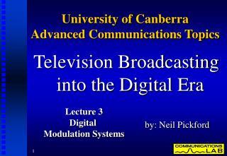 University of Canberra  Advanced Communications Topics