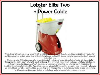 Lobster Elite Two  + Power Cable