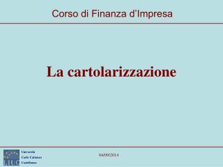La cartolarizzazione