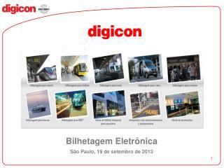 Bilhetagem Eletrônica São Paulo, 19 de setembro de 2013