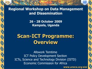Scan-ICT Programme: Overview
