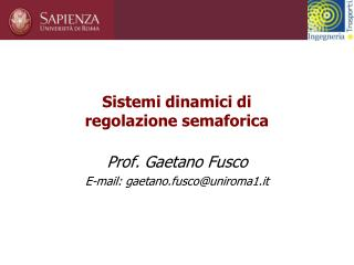 Sistemi dinamici di  regolazione semaforica