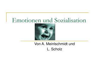 Emotionen und Sozialisation