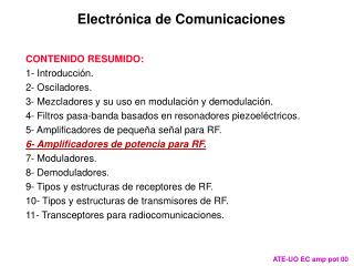 Electr�nica de Comunicaciones