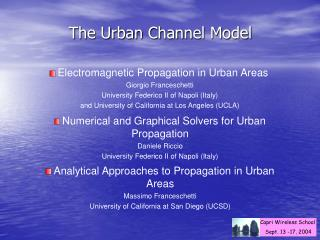 The Urban Channel Model