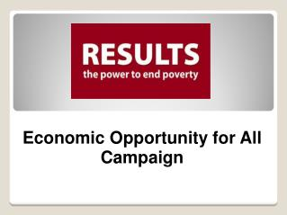 Economic Opportunity for All Campaign