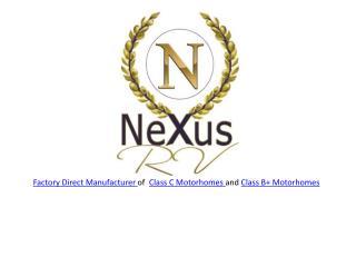 NeXus RV - New Motorhomes For Sale
