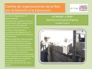 Cartilla de organizaciones de la Red por el Derecho a la Educaci�n
