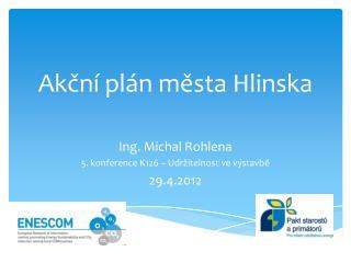 Akční plán města Hlinska