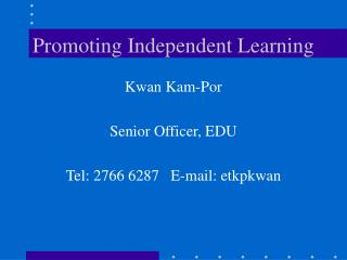 Promoting Independent Learning