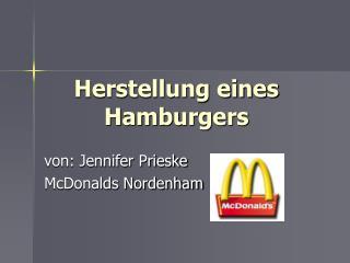 Herstellung eines Hamburgers