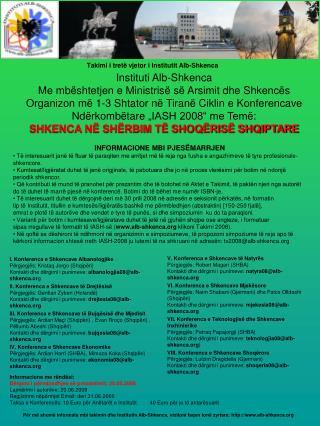 Takimi i tret ë vjetor  i Institutit Alb-Shkenca