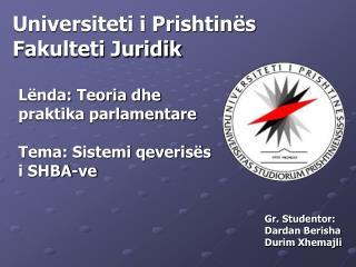 Universiteti i Prishtinës Fakulteti Juridik