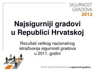 Najsigurniji gradovi  u Republici Hrvatskoj