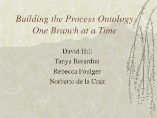 Building the Process Ontology One Branch at a Time