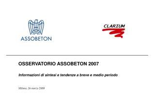 OSSERVATORIO ASSOBETON 2007