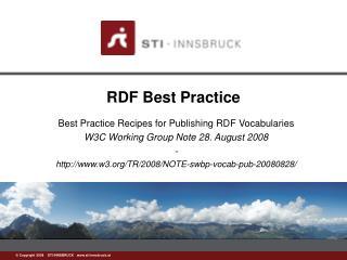 RDF Best Practice