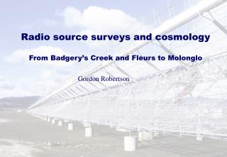 Radio source surveys and cosmology From Badgery's Creek and Fleurs to Molonglo
