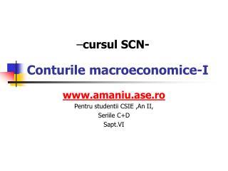 Conturile macroeconomice -I