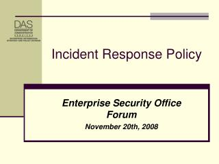 Incident Response Policy