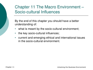Socio Cultural Influences