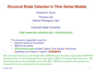 Structural Break Detection in Time Series Models