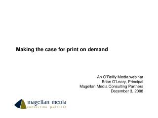 Making the case for print on demand