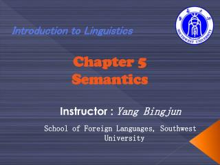 Chapter 5 Semantics