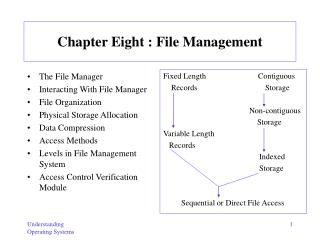 Chapter Eight : File Management