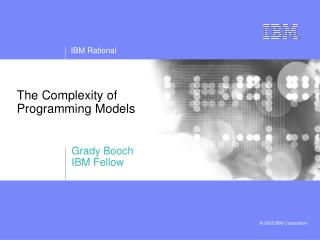 The Complexity of Programming Models