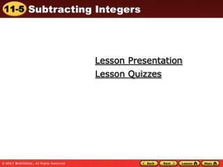 Lesson Presentation