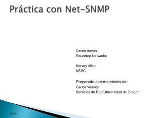 Práctica con Net-SNMP