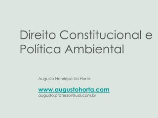 Augusto Henrique Lio Horta augustohorta augusto.professor@uol.br