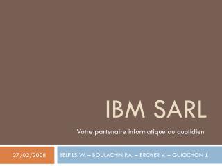 IBM SARL
