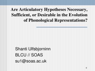 Shanti Ulfsbjorninn BLCU // SOAS su1@soas.ac.uk