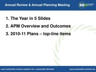 Annual Review & Annual Planning Meeting