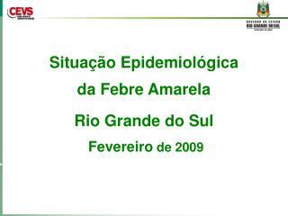 Situa��o Epidemiol�gica da Febre Amarela Rio Grande do Sul  Fevereiro  de 2009
