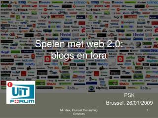 Spelen met web 2.0: blogs en fora