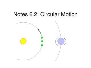 Notes 6.2: Circular Motion