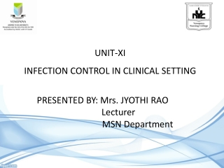 Infection Control- Preventing Nosocomial Infections
